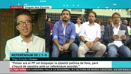 "Errejón: ""Cal un referèndum pactat"""