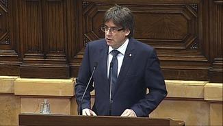 """President Puigdemont: """"O referèndum o referèndum"""""""