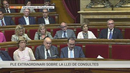 Josep Rull (CiU) explica, com a relator, els detalls de la llei de consultes.