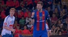 El pivot Kamil Syprzak celebra un gol