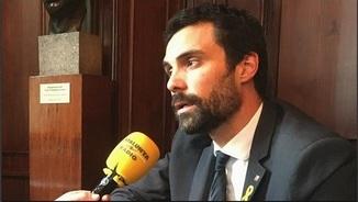 """President Torrent: """"Sortosament, hem pogut foragitar el 155 del Parlament"""""""