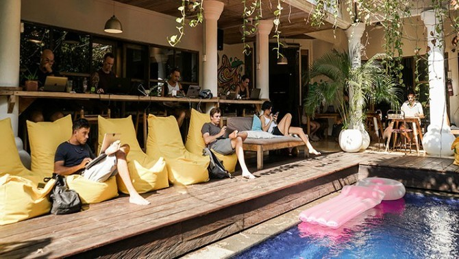 Coworking, Dojo, Bali.