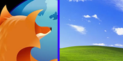 Imatges identificatives del Firefox i del Windows XP.
