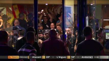 Protestes contra la policia als hotels
