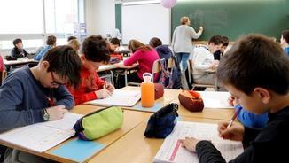 El PDeCAT, ERC i En Comú Podem defensen el model educatiu català