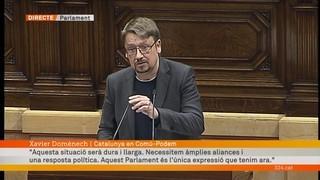 "Domènech: ""Necessitem àmplies aliances i una resposta política"""