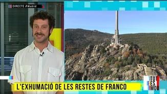 Catalunya i l'exhumació de les restes de Franco