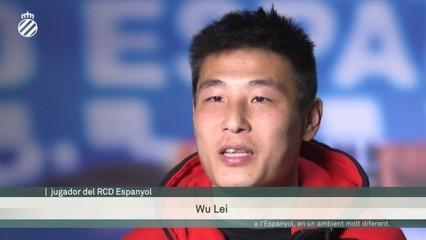 """Wu Lei: """"Aquest premi és un estímul per fer-ho millor a l'Espanyol"""""""