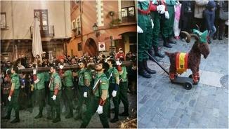 """La Legió """"envaeix"""" Montblanc, a la Conca de Barberà, i encén les xarxes socials"""