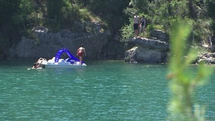 Un estiu ple d'aigua al pantà d'Ulldecona i al riu Sénia