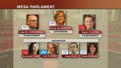 Ja s'ha constituït del Parlament de la IX legislatura