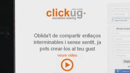 Clickug, enllaços personalitzats