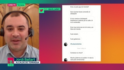 """Jordi Ballart: """"Al final s'ha de dir prou i s'ha de fer difusió per ajudar a dignificar el col·lectiu LGTBI"""""""