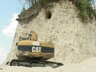 La piràmide del temple maia de Nohmul, a Belize.
