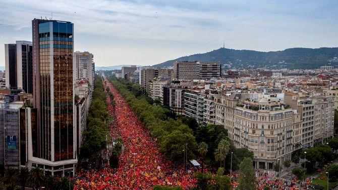 La manifestació de la Diada en imatges