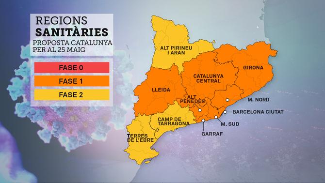 Barcelona i la regió metropolitana entraran dilluns a la fase 1: podran obrir les terrasses