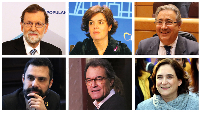 Rajoy, Sáenz de Santamaría, Colau and Torrent all to testify next week at the trial