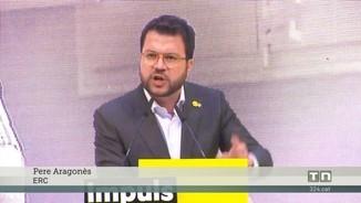 Aragonès acusa el PSOE d'impedir que Junqueras participi en el debat de les europees
