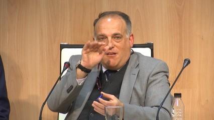 Tebas considera un encert la suspensió del partit de Balaídos i torna a criticar el Madrid