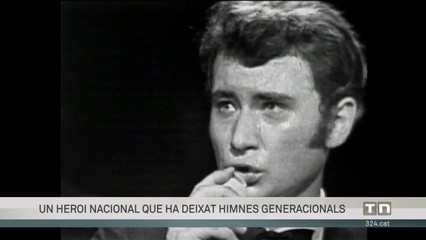 Mor Johnny Hallyday, icona musical francesa. Clip amb fragments musicals seus.