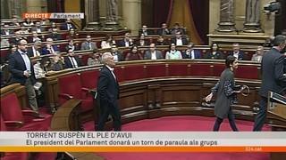 """García Albiol: """"Si finalment aquest ple segueix endavant, nosaltres abandonarem l'hemicicle"""""""