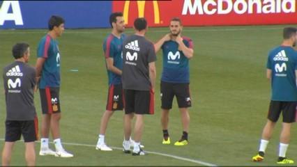 Hierro ja mana a la selecció espanyola
