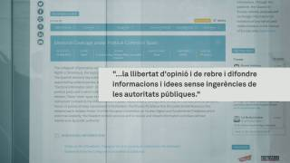 Els blocs electorals al tribunal d'Estrasburg