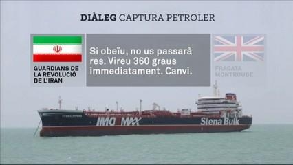 Testimoni de ràdio de la captura del petroler britànic pels Guardians de la Revolució de l'Iran