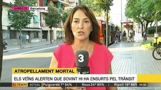 Mor una dona envestida per un autobús al Guinardó