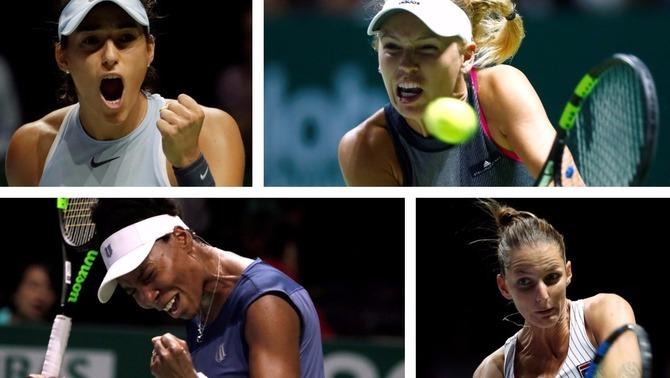 Garcia, Wozniacki, Venus i Pliskova (Reuters)