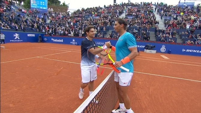 Rafa Nadal elimina David Ferrer i accedeix als quarts de final de l'Open Banc Sabadell