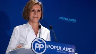 """Cospedal, al PSOE: """"Quins pactes secrets tenen amb Puigdemont o Torra?"""""""
