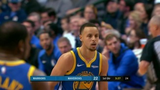 Stephen Curry resol a base de triples el duel contra Luka Doncic