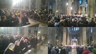 Missa de comiat al bisbe Camprodon, a la catedral de Girona