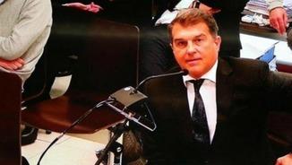 Joan Laporta exigeix el seu dret a parlar català al jutjat i es nega a declarar en castellà