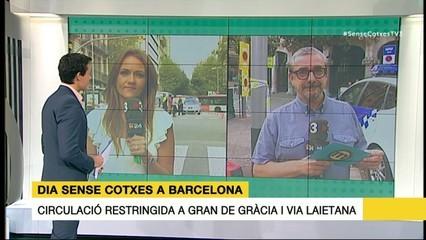 El Dia sense Cotxes a Via Laietana i Gran de Gràcia