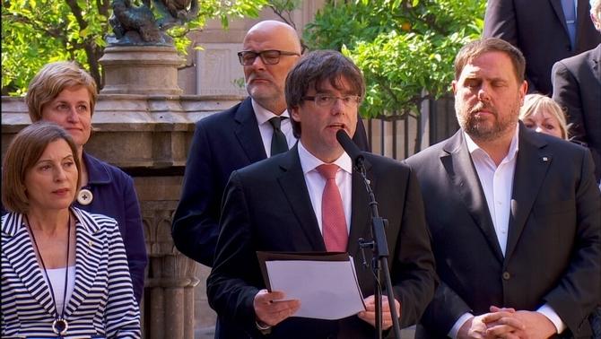 La fiscalia porta al TSJC l'anunci de la data i la pregunta per al referèndum