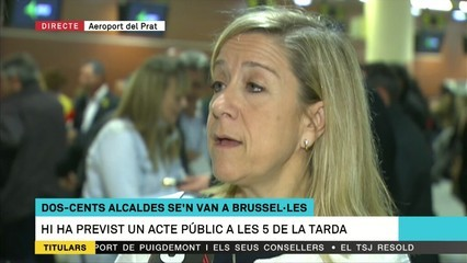 """Neus Lloveras: """"Anem a demanar a Europa que obri els ulls, que deixi de mirar cap a un costat"""""""