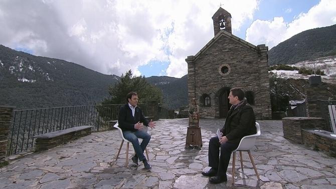 L'entrevista s'ha gravat al santuari de Canòlich, a 1.635 metres d'altitud