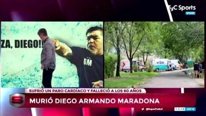 La mort de Maradona en directe