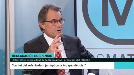 """Artur Mas: """"L'estat espanyol està disposat a arribar fins a les últimes conseqüències"""""""