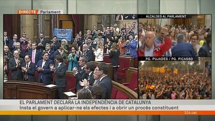 El Parlament declara la independència de Catalunya amb 70 vots a favor