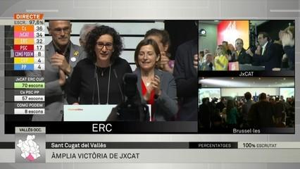 """Rovira (ERC): """"Els ciutadans de Catalunya han votat majoritàriament a favor de la república"""""""