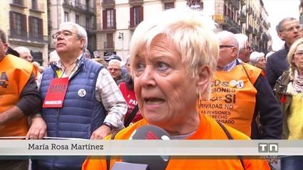 Els pensionistes es manifesten contra el pla de la Comissió Europea per incentivar els plans de pensió privats
