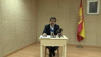 L'escenificació de la videoconferència de Jordi Sànchez des de la presó