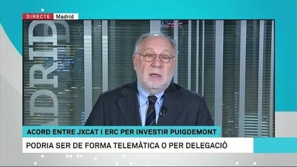 """Ernesto Ekaizer: """"La investidura telemàtica (de Puigdemont) no és viable"""""""