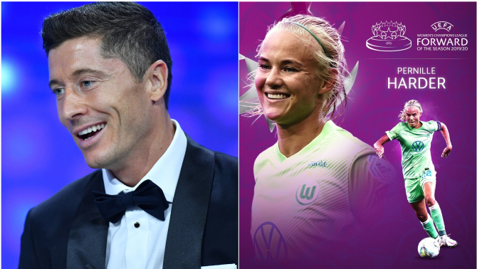 Robert Lewandowski i Pernille Harder