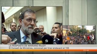 La resposta de Mariano Rajoy a la declaració d'independència de Catalunya