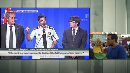"Puigdemont: ""Els Mossos han abatut Younes Abouyaaqoub aquesta tarda"""