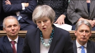 Theresa May, en la intervenció als comuns